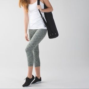 Lululemon Wunder Under Jaquard Crop Leggings
